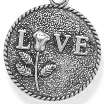 Charm Bracelets: Silver-Tone Angelica Love Expandable Bangle