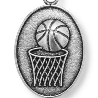 Charm Bracelets: Silver-Tone Angelica Basketball Expandable Bangle