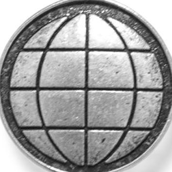 Charm Bracelets: Silver-Tone Angelica The Earth Expandable Bangle