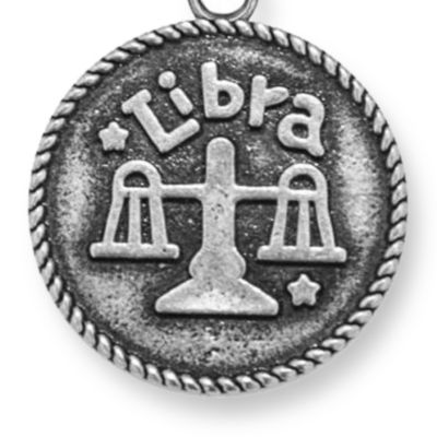 Charm Bracelets: Silver-Tone Angelica Libra Expandable Bangle