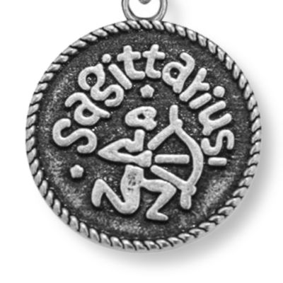 Charm Bracelets: Silver-Tone Angelica Sagittarius Expandable Bangle