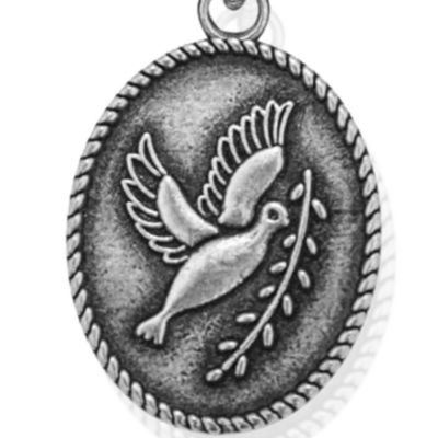 Charm Bracelets: Silver-Tone Angelica Peace Dove Expandable Bangle