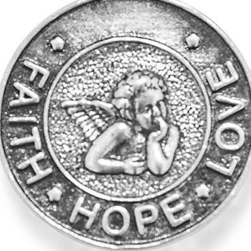 Charm Bracelets: Silver-Tone Angelica Faith, Hope, Love Expandable Bangle