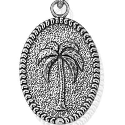 Charm Bracelets: Silver-Tone Angelica Palm Tree Expandable Bangle