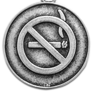 Charm Bracelets: Silver-Tone Angelica No Smoking Expandable Bangle