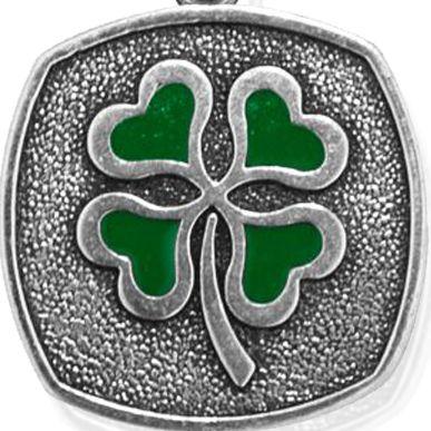 Charm Bracelets: Silver-Tone Angelica Four Leaf Clover Expandable Bangle