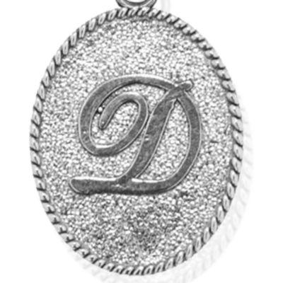 Charm Bracelets: Silver-Tone Angelica D Initial Expandable Bangle