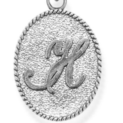 Charm Bracelets: Silver-Tone Angelica H Initial Expandable Bangle