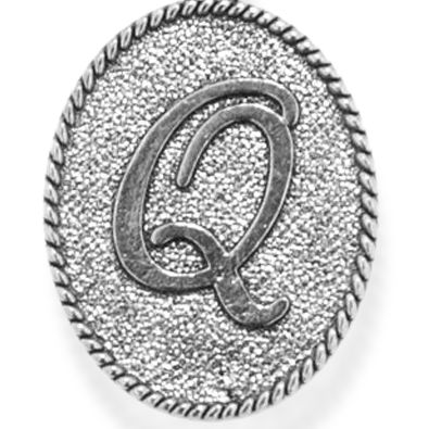 Chain Bracelet: Silver-Tone Angelica Q Initial Expandable Bangle