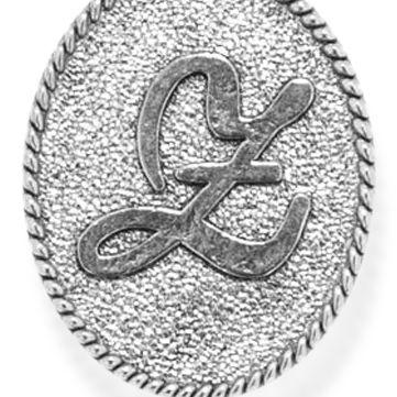Charm Bracelets: Silver-Tone Angelica Z Initial Expandable Bangle