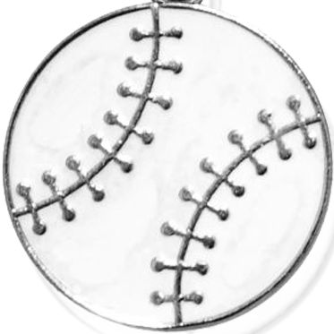 Charm Bracelets: Silver-Tone Angelica Baseball Expandable Bangle