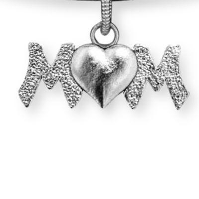 Charm Bracelets: Silver-Tone Angelica Mom Heart Expandable Bangle