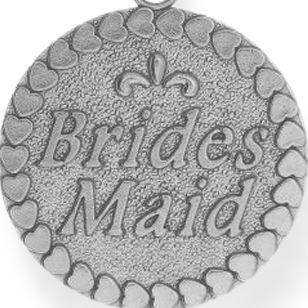 Charm Bracelets: Silver-Tone Angelica Bridesmaid Expandable Bangle