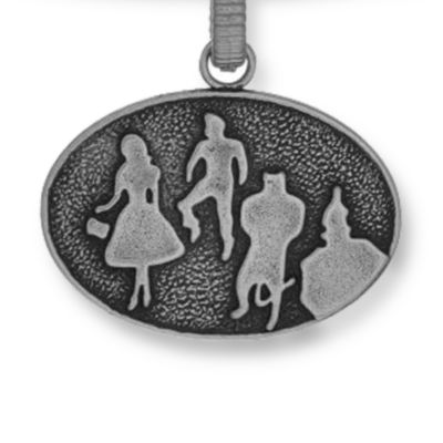 Charm Bracelets: Silver-Tone Angelica The Wizard of Oz Group Silhouette Expandable Bangle