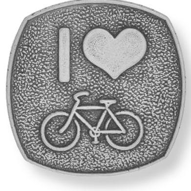 Charm Bracelets: Silver-Tone Angelica I Love to Bike Expandable Bangle