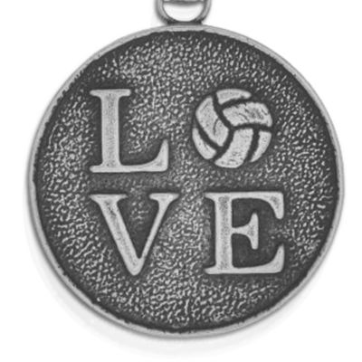 Charm Bracelets: Silver-Tone Angelica Volleyball Love Expandable Bangle
