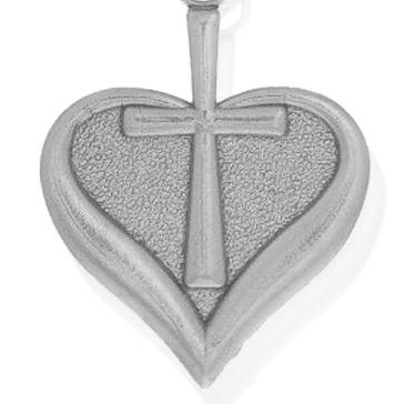 Charm Bracelets: Silver-Tone Angelica Heart and Cross Expandable Bangle