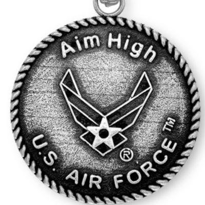 Charm Bracelets: Silver-Tone Angelica U.S. Air Force Aim High Expandable Bangle