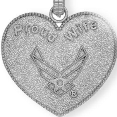 Charm Bracelets: Silver-Tone Angelica U.S. Air Force Proud Wife Expandable Bangle