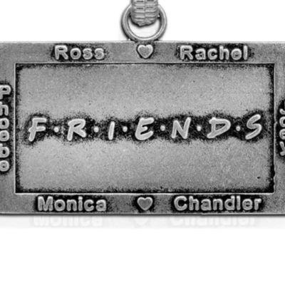 Charm Bracelets: Silver-Tone Angelica Friends Logo Expandable Bangle