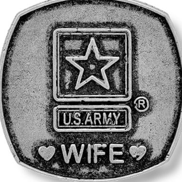 Charm Bracelets: Silver-Tone Angelica United States Army Wife Expandable Bangle