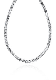 Belk & Co. 14k White Gold Byzantine Necklace