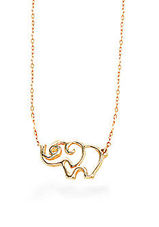 Belk & Co. 10K Yellow Gold Elephant Pendent