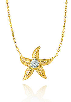Belk & Co. 10k Yellow Gold Starfish Necklace