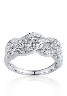 Belk & Co. Diamond Braid Ring in 10k White Gold