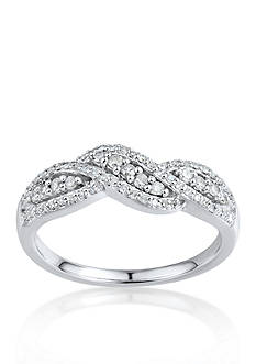 Belk & Co. Diamond Band in 10k White Gold