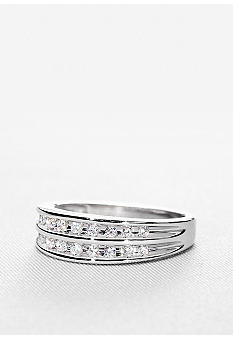 Belk & Co. Sterling Silver Diamond Band