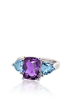 Belk & Co. Sterling Silver Swiss Blue Topaz & Amethyst Ring