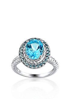 Belk & Co. Sterling Silver Swiss Blue Topaz and London Blue Topaz Ring