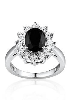 Belk & Co. Black Sapphire and Diamond Accent Ring in Sterling Silver