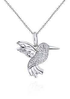 Belk & Co. Diamond Hummingbird Pendant in Sterling Silver