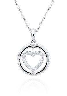 Belk & Co. Diamond Accent Heart Flip Pendant in Sterling Silver