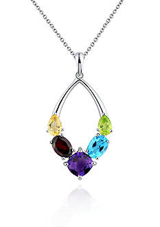 Belk & Co. Sterling Silver Multi Gemstone Pendant