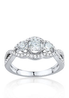Belk & Co. 1.25 ct. t.w. 3 Stone Diamond Ring in 14k White Gold
