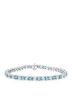 Belk & Co. Blue and White Topaz Sterling Silver Bracelet