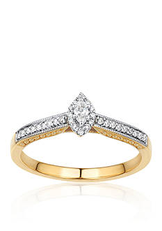 Belk & Co. Diamond Promise Ring in 14k Yellow Gold