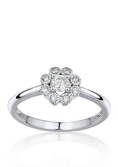 Belk & Co. Diamond Promise Ring in 14k White Gold