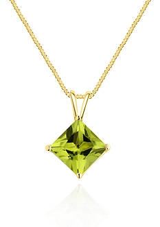 Belk & Co. 14k Yellow Gold Peridot Solitaire Pendant