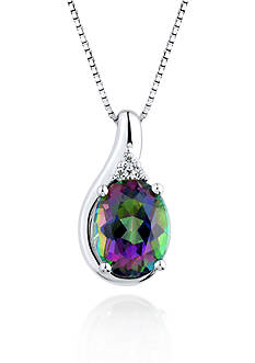 Belk & Co. Sterling Silver Mystic Fire Topaz and White Topaz Pendant