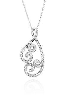 Belk & Co. Diamond Swirl Pendant in Sterling Silver