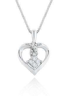 Belk & Co. Diamond Heart Pendant in Sterling Silver