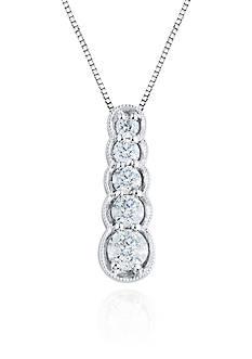 Belk & Co. Diamond Stick Pendant in 10k White Gold