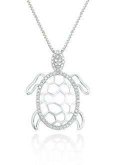 Belk & Co. Diamond Turtle Pendant in Sterling Silver