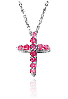 Belk & Co. Sterling Silver Ruby Cross Pendant
