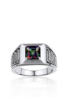 Belk & Co. Men's Mystic Fire Topaz Ring in Sterling Silver