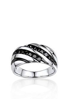 Belk & Co. Men's Black Diamond Ring in Sterling Silver